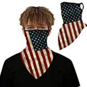 NWT Breathable Flag Face Mask Gaiter w/Ear…